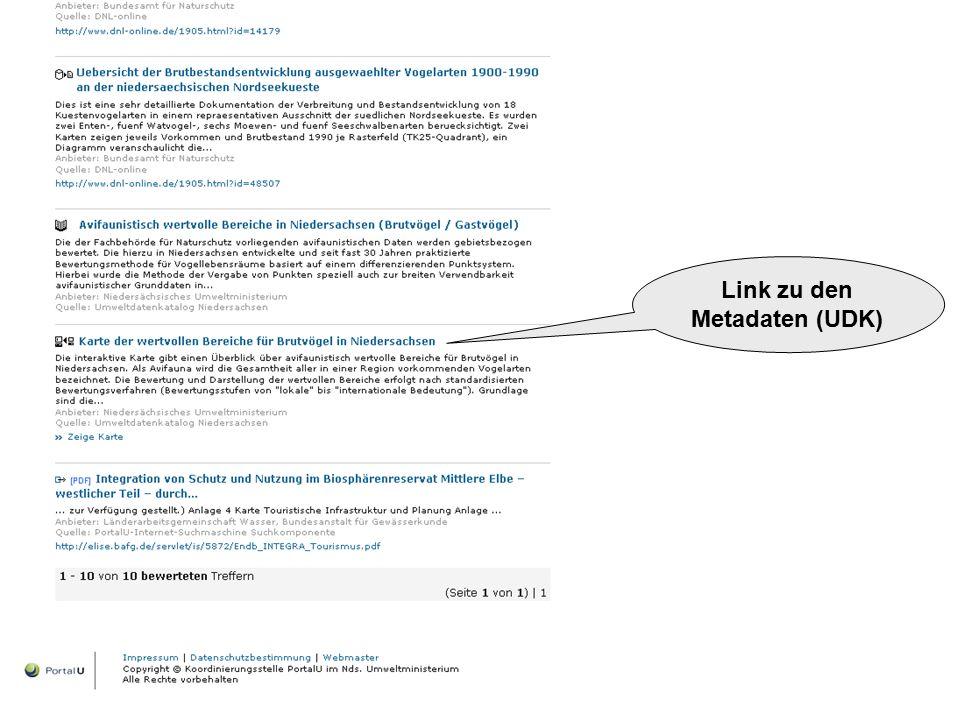 Link zu den Metadaten (UDK)