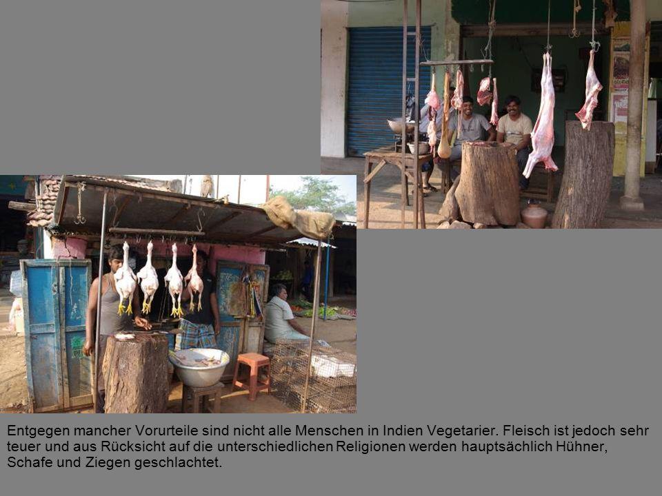 Entgegen mancher Vorurteile sind nicht alle Menschen in Indien Vegetarier.