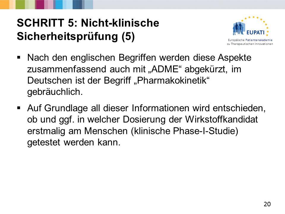 """Europäische Patientenakademie zu Therapeutischen Innovationen  Nach den englischen Begriffen werden diese Aspekte zusammenfassend auch mit """"ADME abgekürzt, im Deutschen ist der Begriff """"Pharmakokinetik gebräuchlich."""