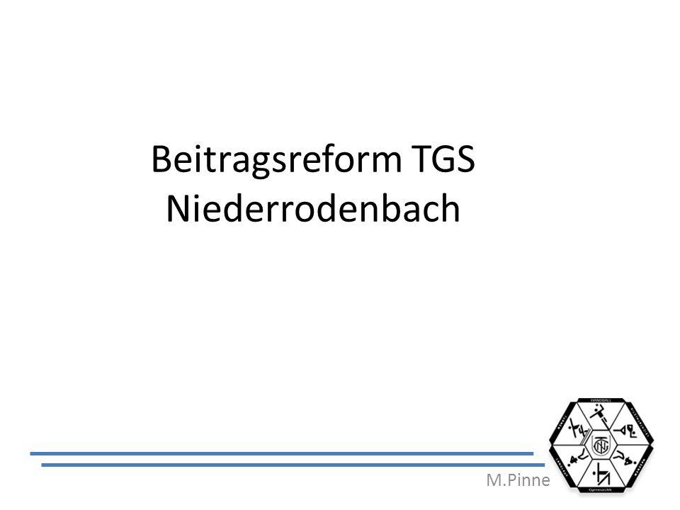 Beitragsreform TGS Niederrodenbach M.Pinne