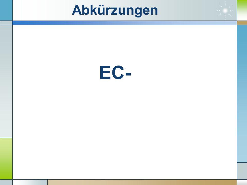 EC- Abkürzungen