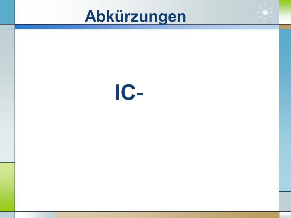 IC- Abkürzungen