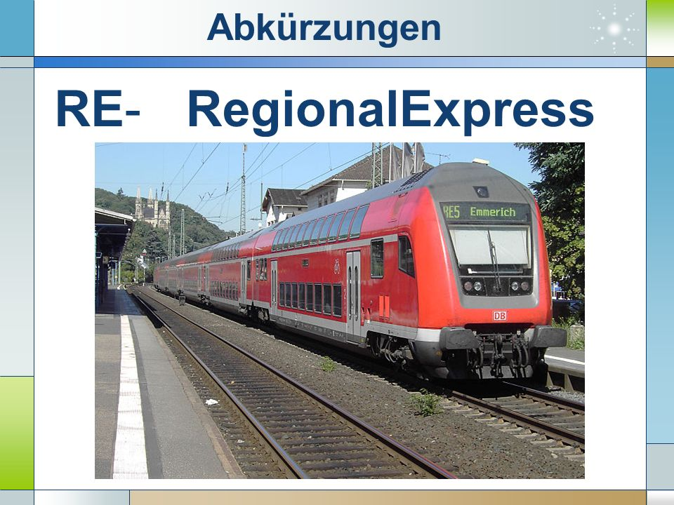 RE-RegionalExpress Abkürzungen