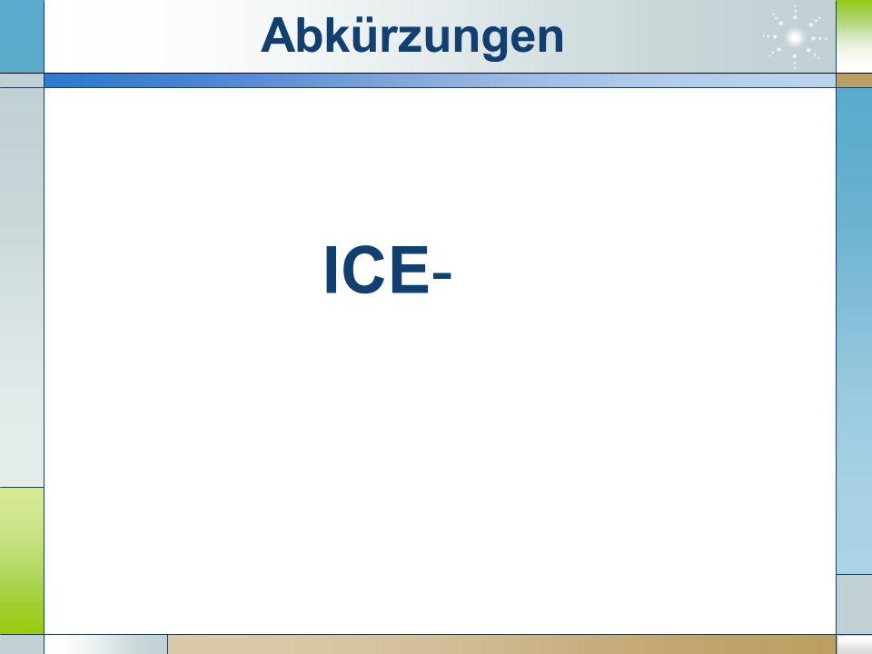 ICE-InterCityExpress Abkürzungen