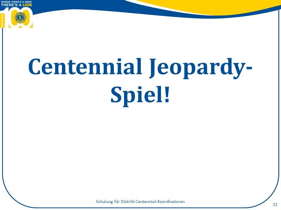 Centennial Jeopardy- Spiel! 11 Schulung für Distrikt Centennial-Koordinatoren