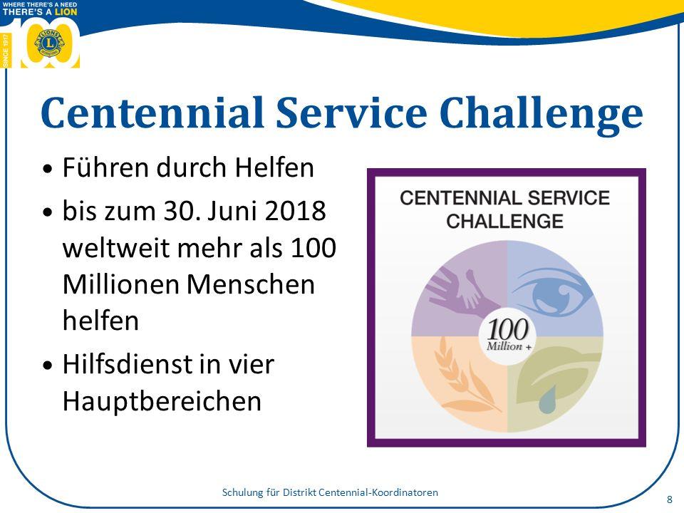 Centennial Service Challenge Führen durch Helfen bis zum 30.
