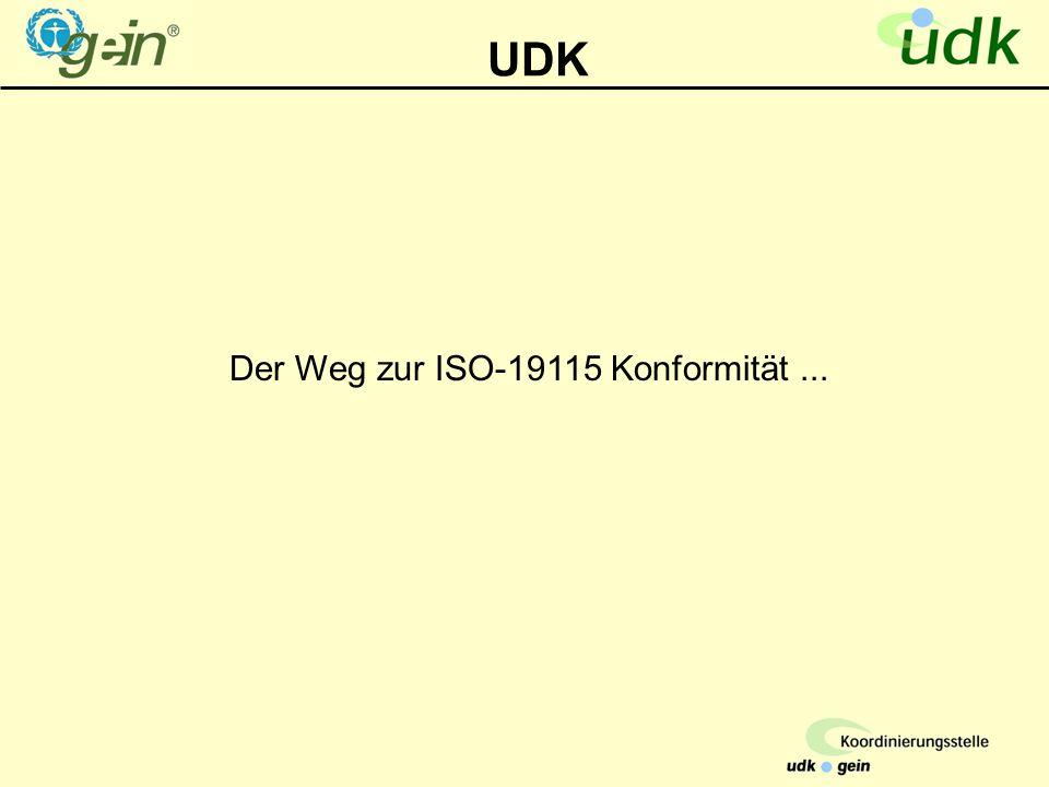UDK Der Weg zur ISO-19115 Konformität...