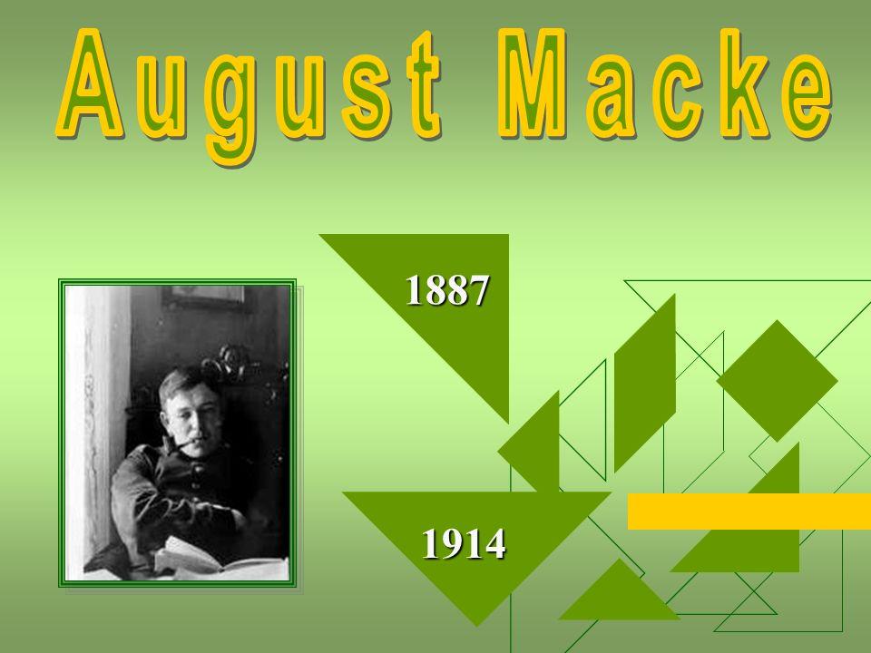 August (Robert Ludwig) Macke war ein deutscher Maler des Expressionismus und Gründungsmitglied der Münchner Künstlergruppe Der Blaue Reiter .