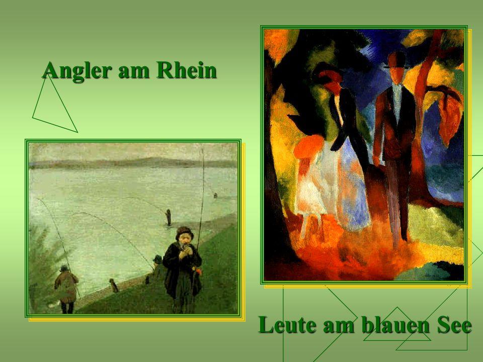Angler am Rhein Leute am blauen See