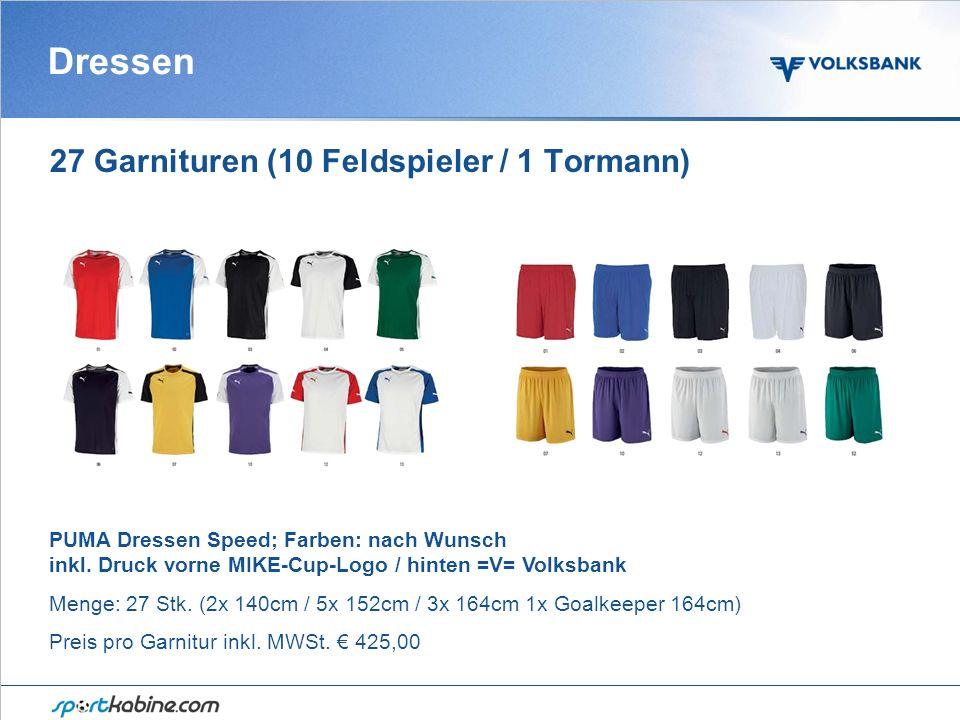 Dressen 27 Garnituren (10 Feldspieler / 1 Tormann) PUMA Dressen Speed; Farben: nach Wunsch inkl.