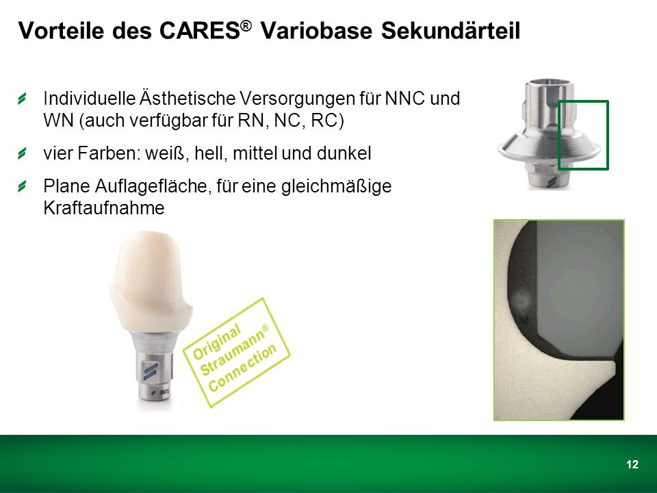 CARES ® Variobase™ Sekundärteil
