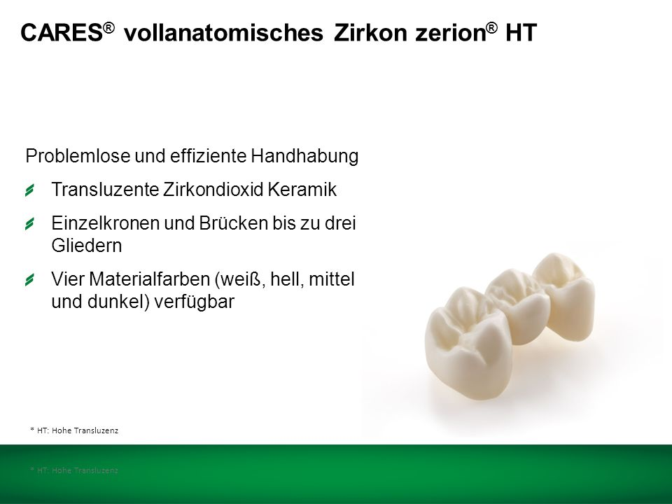 CARES ® Vollanatomisches Zirkon zerion ® HT