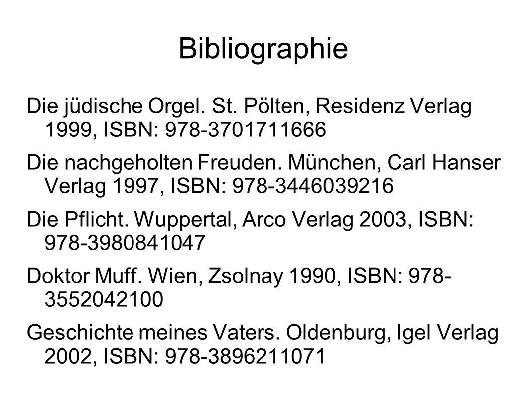 Bibliographie Die jüdische Orgel. St.