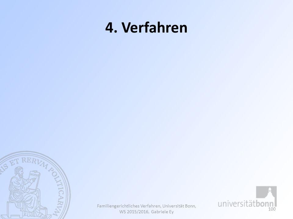 4. Verfahren Familiengerichtliches Verfahren, Universität Bonn, WS 2015/2016, Gabriele Ey 100