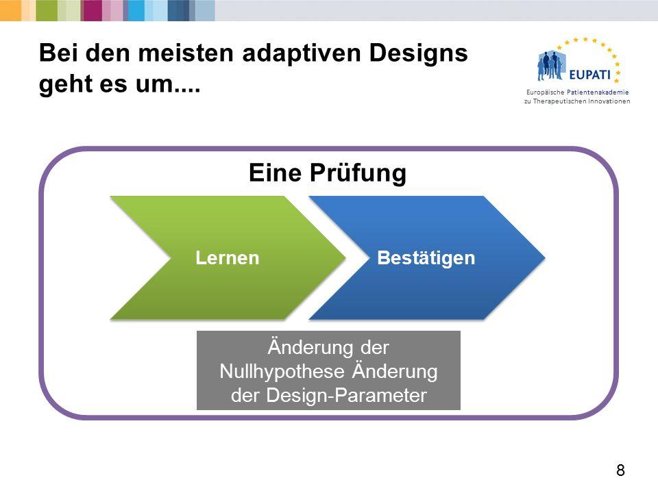Europäische Patientenakademie zu Therapeutischen Innovationen Verblindet vs.