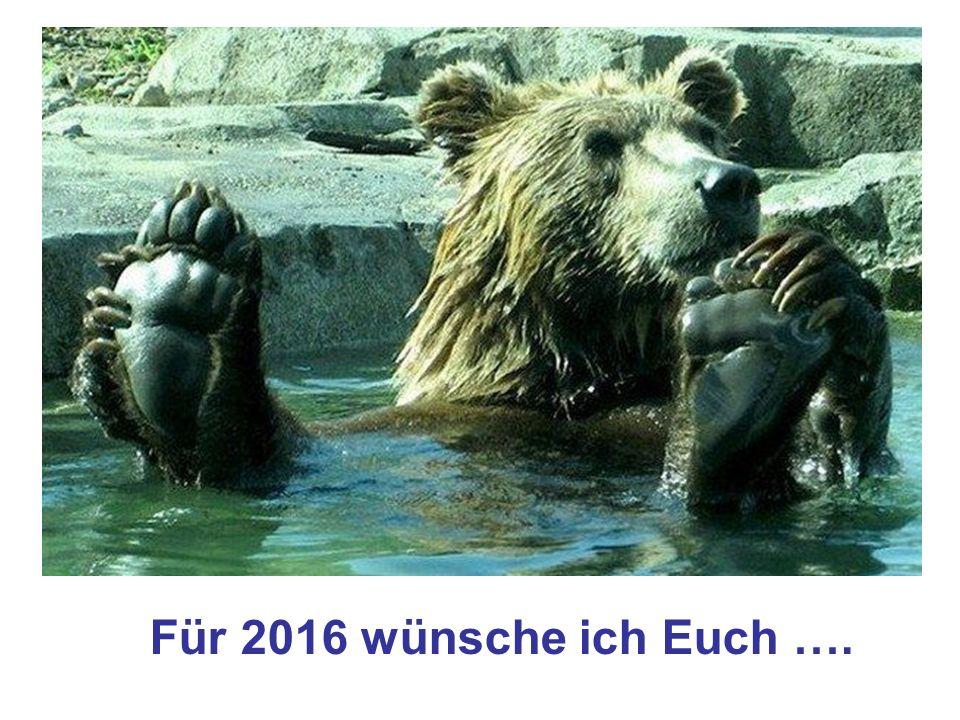 Für 2016 wünsche ich Euch ….