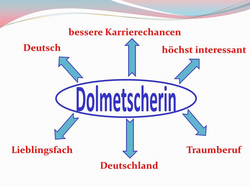 Lieblingsfach Deutsch bessere Karrierechancen Deutschland höchst interessant Traumberuf