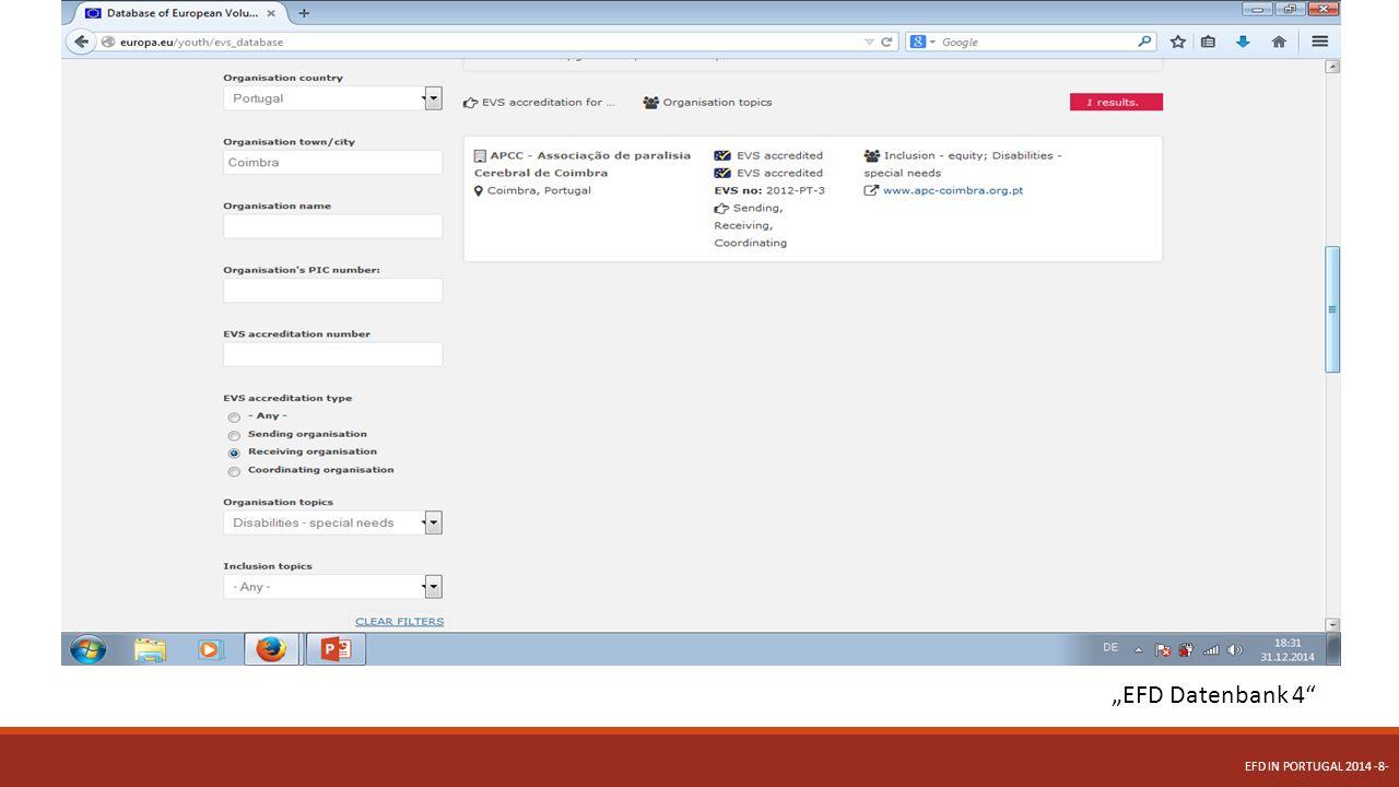Wie kann ich am EFD teilnehmen.Bewerbung Bewerbungen ausschließlich per Email versenden.