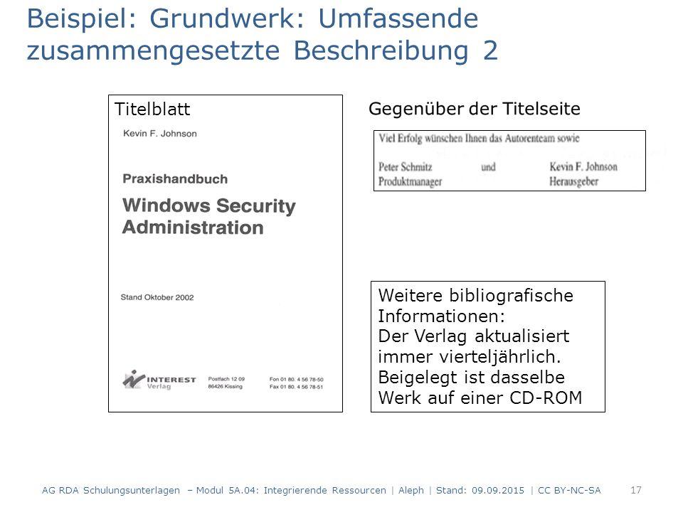 17 Weitere bibliografische Informationen: Der Verlag aktualisiert immer vierteljährlich.