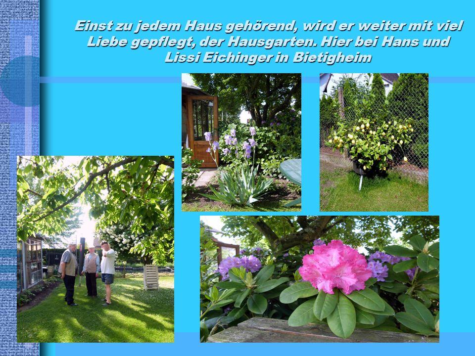 Einst zu jedem Haus gehörend, wird er weiter mit viel Liebe gepflegt, der Hausgarten.