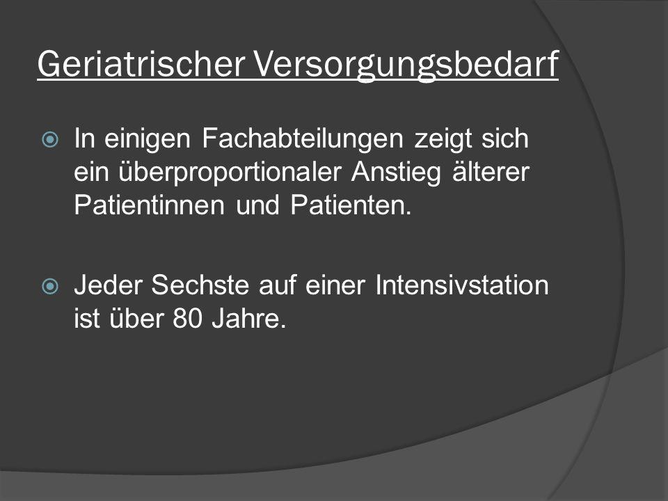 Geriatrisches Basisassessment -> Geriatrisches Screening nach Lachs Ziele: - Schnelle Einschätzung des Patienten - Ganzheitliche Einschätzung des Patienten Fragen: - Bestehen singuläre Probleme.