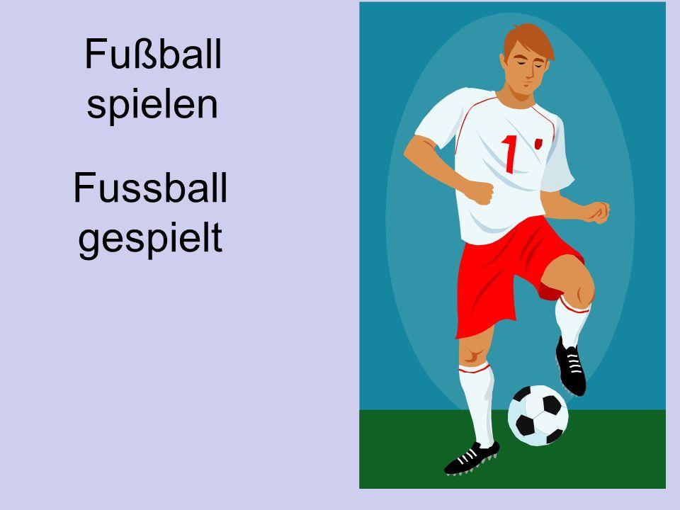 Fußball spielen Fussball gespielt
