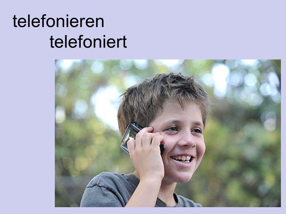 telefonieren telefoniert