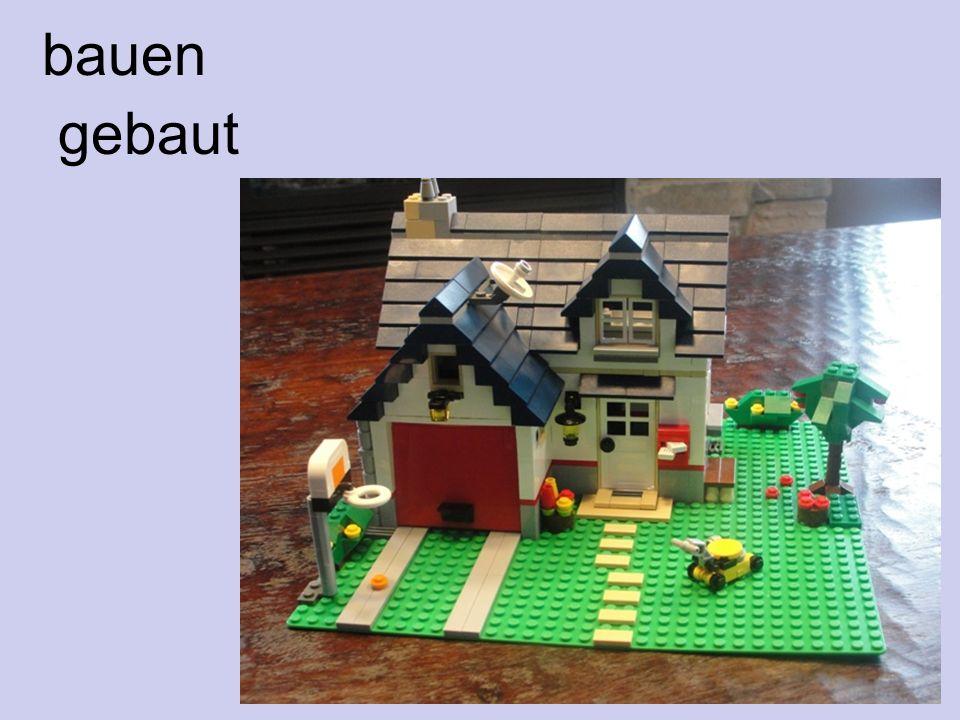 bauen gebaut