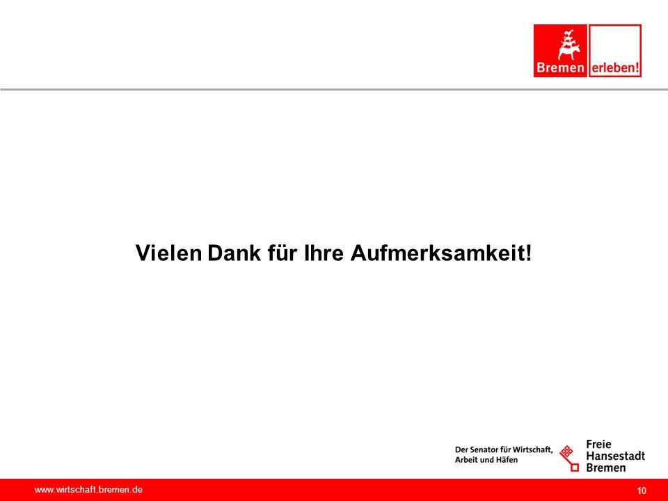 www.wirtschaft.bremen.de Vielen Dank für Ihre Aufmerksamkeit! 10