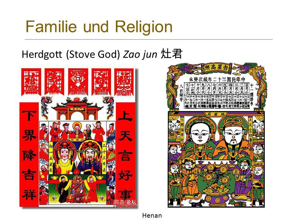 Familie und Religion Herdgott (Stove God) Zao jun 灶君 Henan