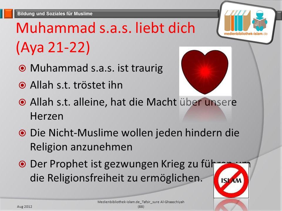 Muhammad s.a.s. liebt dich (Aya 21-22)  Muhammad s.a.s.