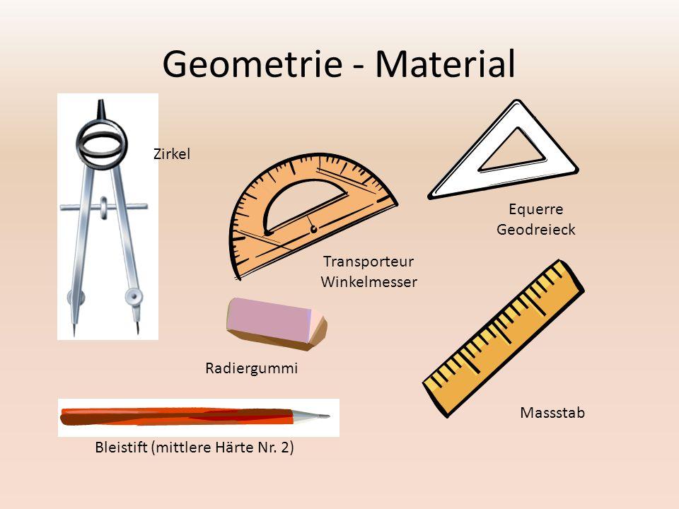 Geometrie - Material Zirkel Transporteur Winkelmesser Equerre Geodreieck Massstab Radiergummi Bleistift (mittlere Härte Nr.