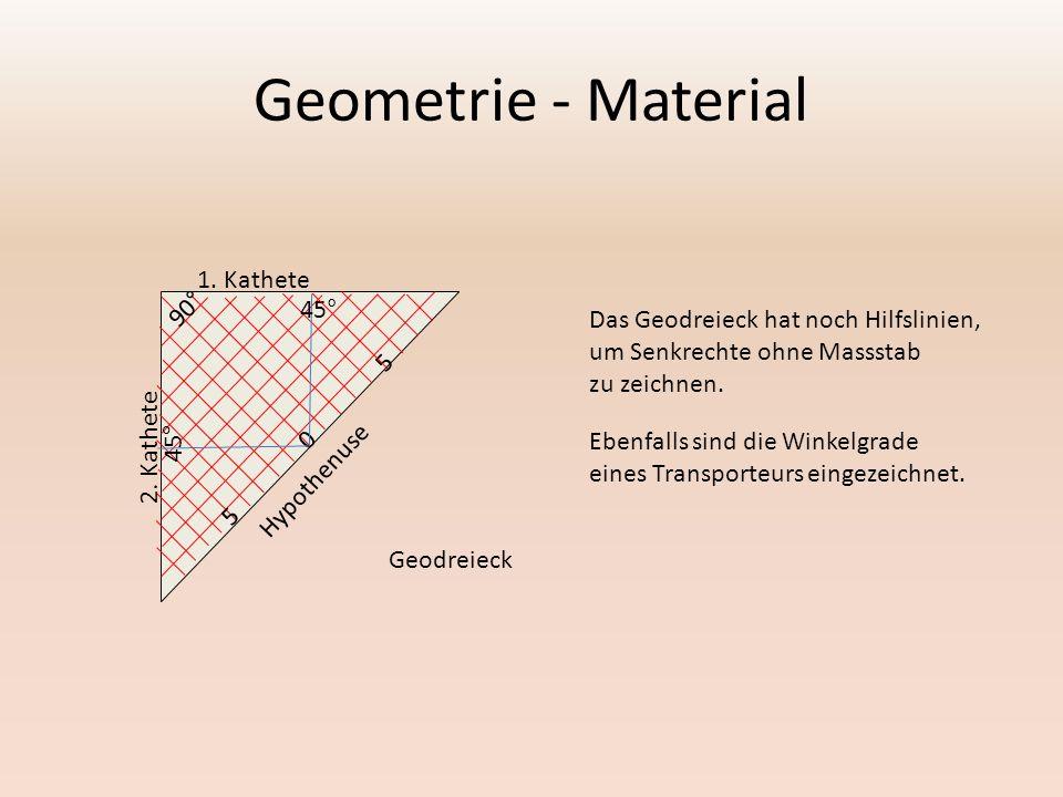 Geometrie - Material Mit dem Transporteur werden Winkel gemessen.