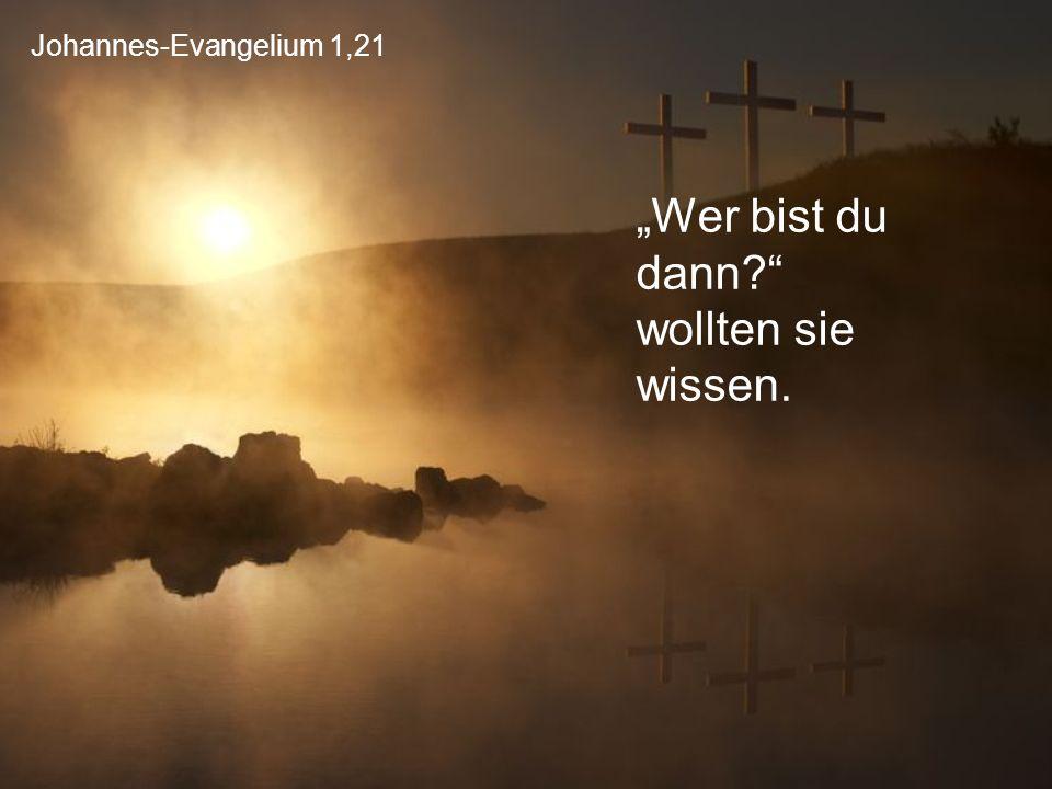 """Johannes-Evangelium 1,21 """"Wer bist du dann?"""" wollten sie wissen."""