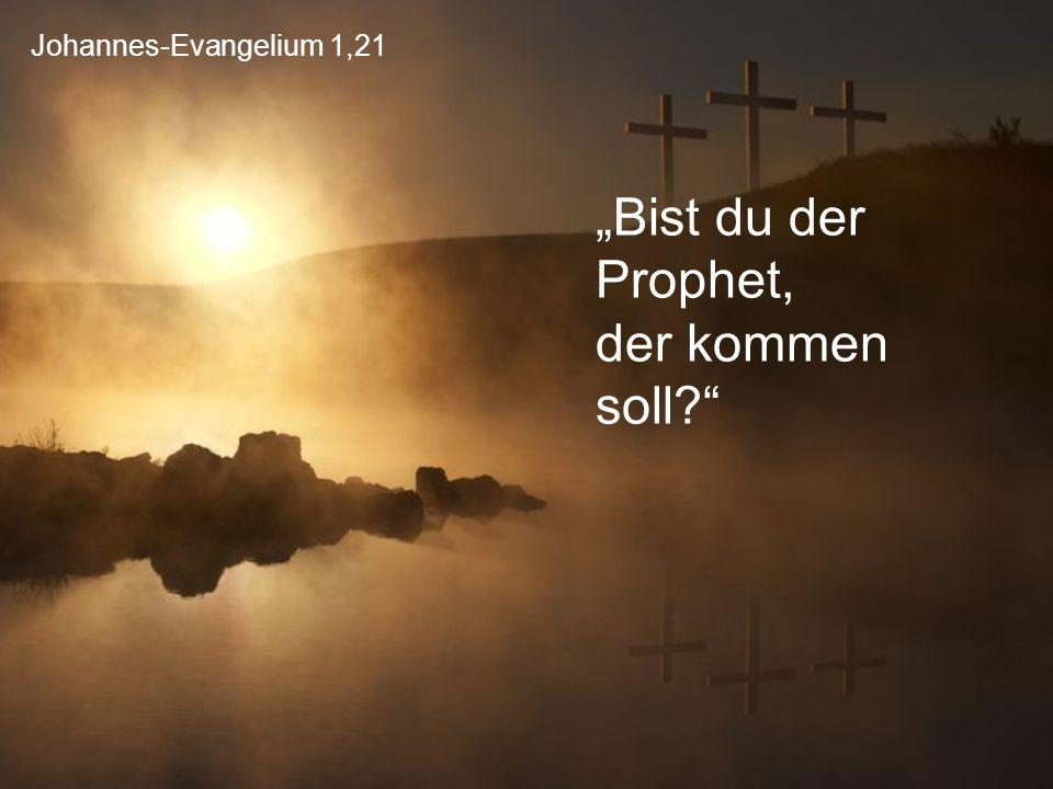 """Johannes-Evangelium 1,21 """"Bist du der Prophet, der kommen soll?"""""""