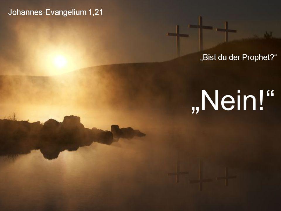 """Johannes-Evangelium 1,21 """"Bist du der Prophet?"""" """"Nein!"""""""