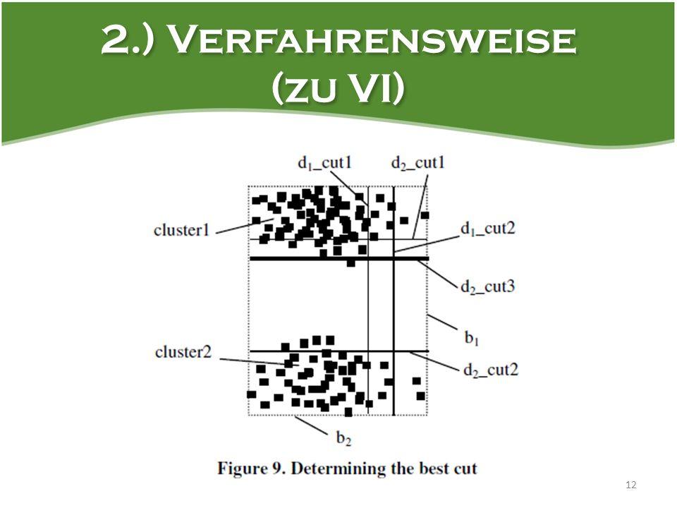 2.) Verfahrensweise (zu VI) 12
