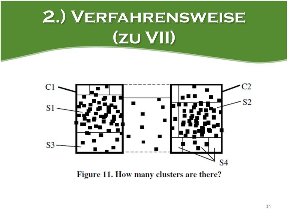 2.) Verfahrensweise (zu VII) 14