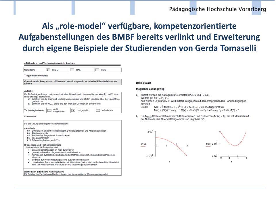 """Als """"role-model verfügbare, kompetenzorientierte Aufgabenstellungen des BMBF bereits verlinkt und Erweiterung durch eigene Beispiele der Studierenden von Gerda Tomaselli"""