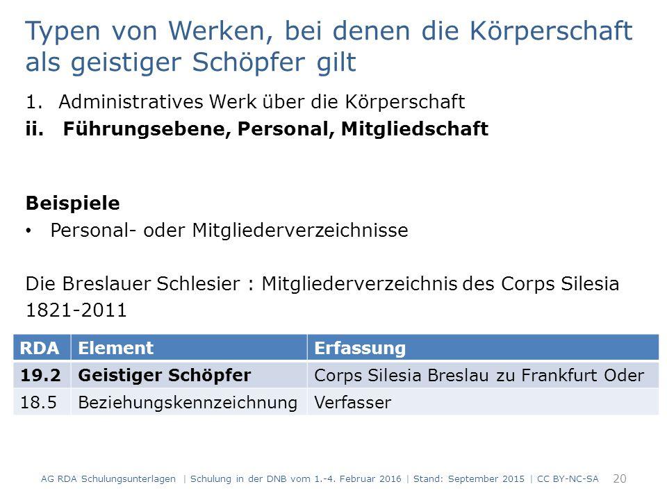 1.Administratives Werk über die Körperschaft ii.Führungsebene, Personal, Mitgliedschaft Beispiele Personal- oder Mitgliederverzeichnisse Die Breslauer