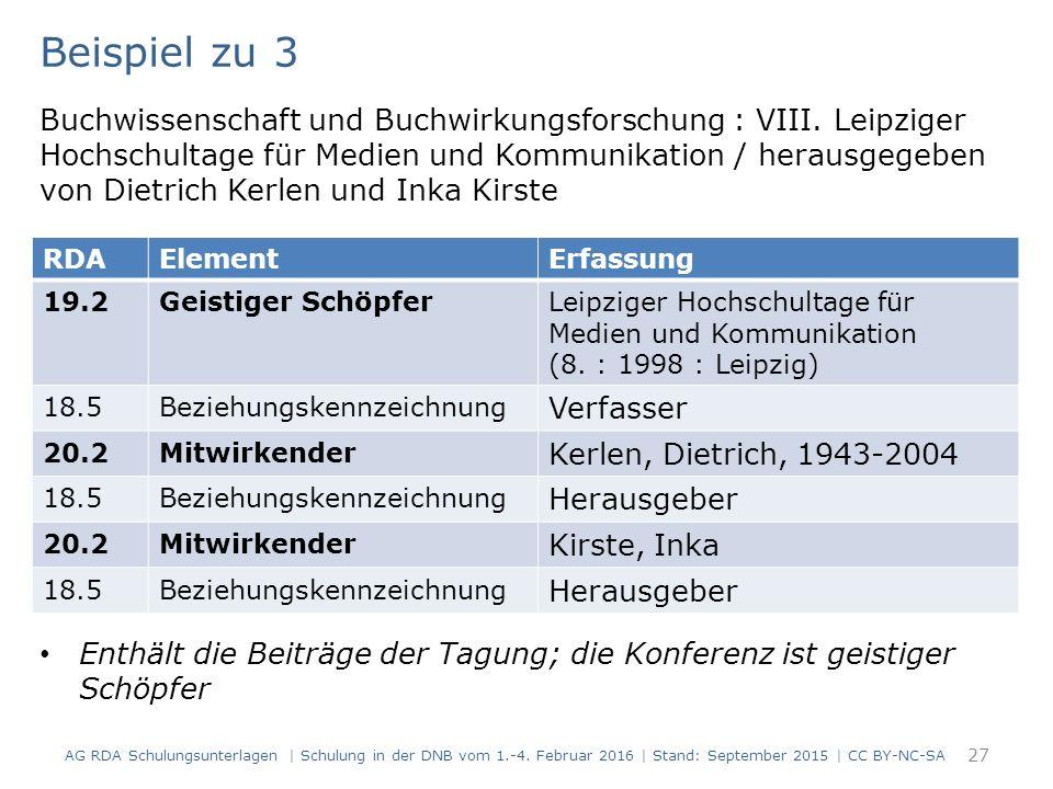 27 Beispiel zu 3 Buchwissenschaft und Buchwirkungsforschung : VIII. Leipziger Hochschultage für Medien und Kommunikation / herausgegeben von Dietrich