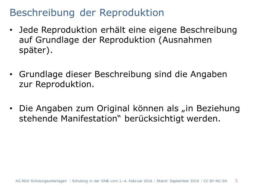 Zählung von fortlaufenden Ressourcen (RDA 2.6) Modul 5B.06 96 AG RDA Schulungsunterlagen   Schulung in der DNB vom 1.-4.
