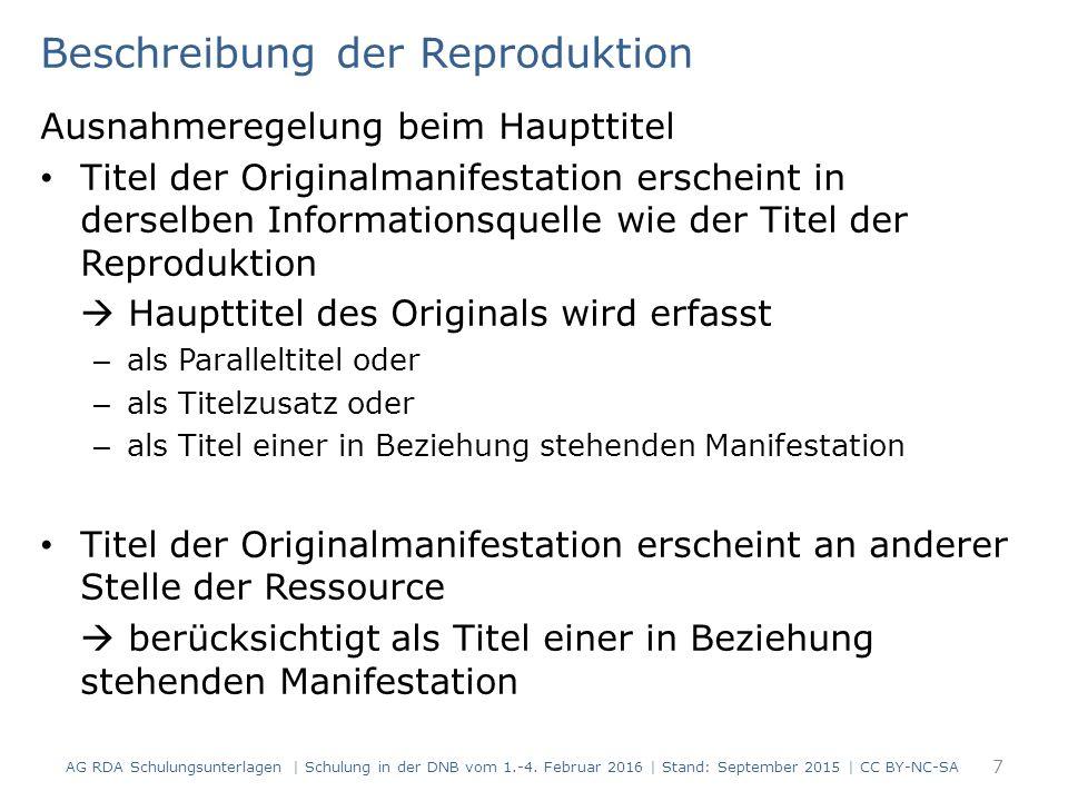 Zeitungen 128 Modul 5B.15 AG RDA Schulungsunterlagen   Schulung in der DNB vom 1.-4.
