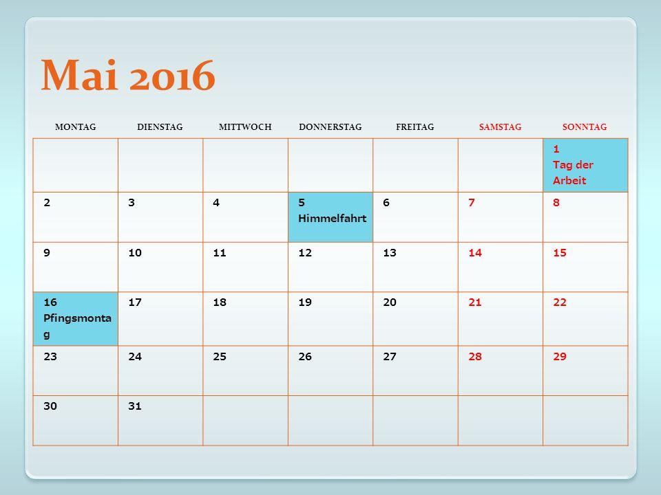 Juni 2016 MONTAGDIENSTAGMITTWOCHDONNERSTAGFREITAGSAMSTAGSONNTAG 12345 6789101112 13141516171819 20212223242526 27282930