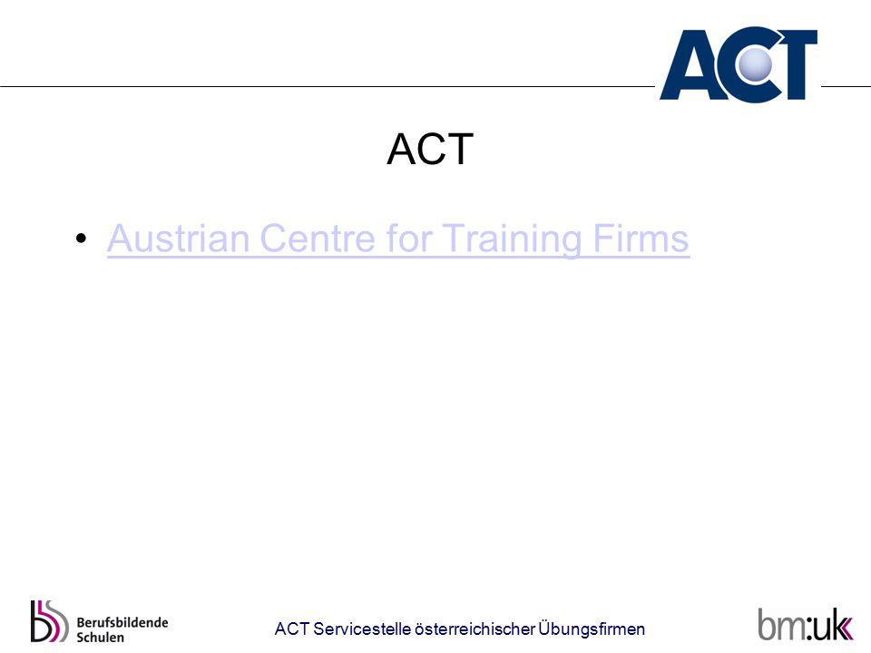 ACT Austrian Centre for Training Firms ACT Servicestelle österreichischer Übungsfirmen