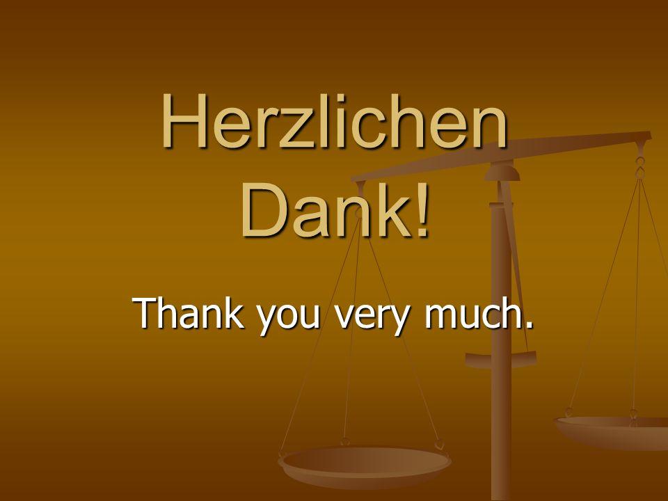 Herzlichen Dank! Thank you very much.