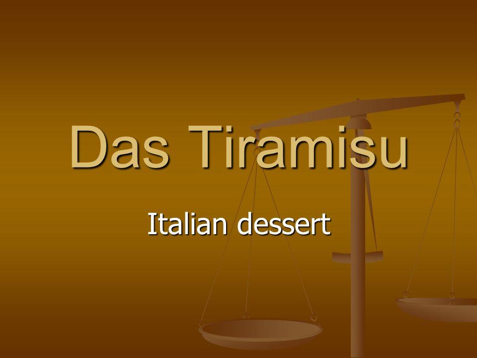 Das Tiramisu Italian dessert