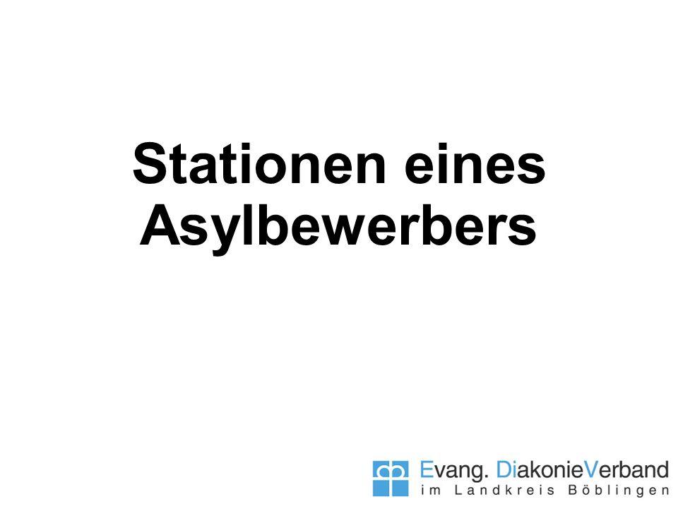Stationen eines Asylbewerbers
