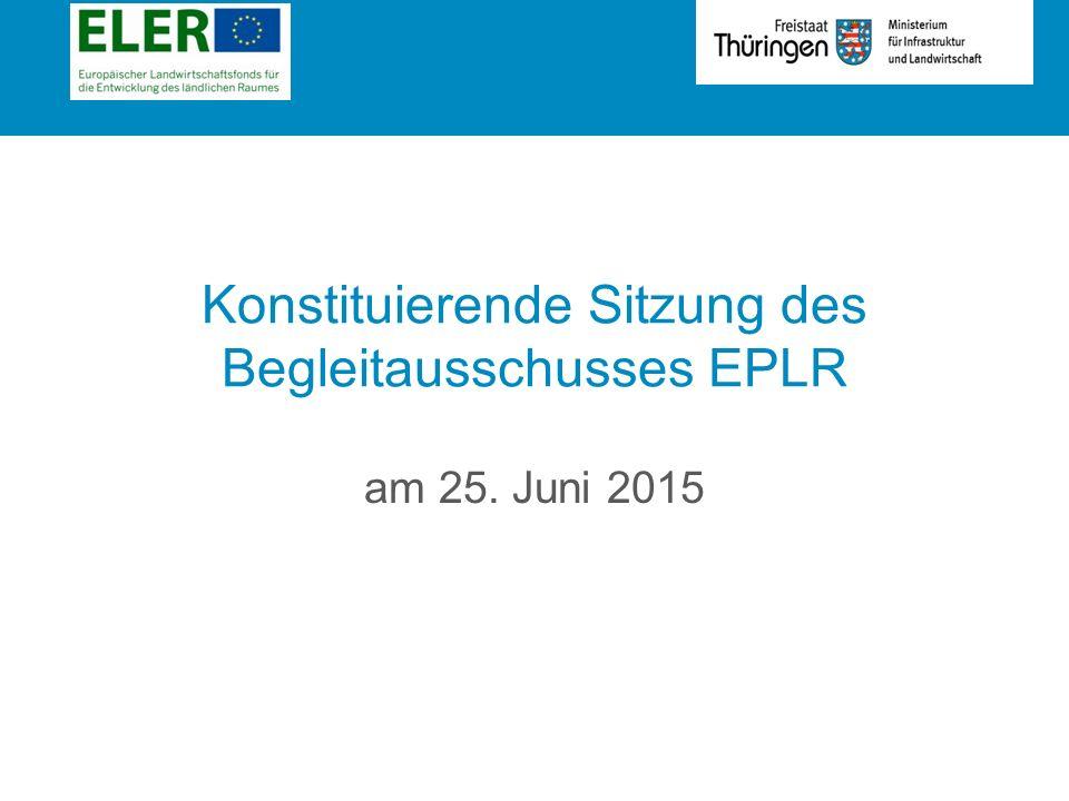 Rubrik Konstituierende Sitzung des Begleitausschusses EPLR am 25. Juni 2015