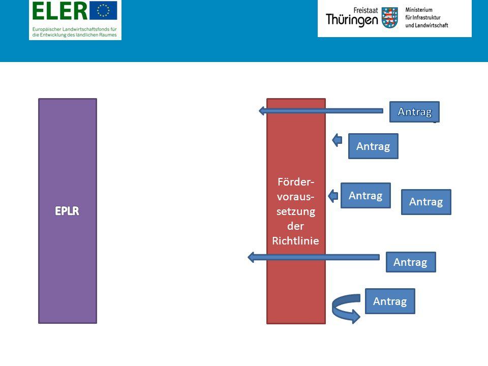 Rubrik Antrag Förder- voraus- setzung der Richtlinie